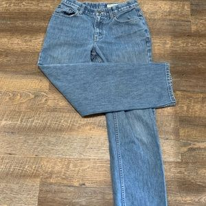 Straight leg high waist vintage mom jeans